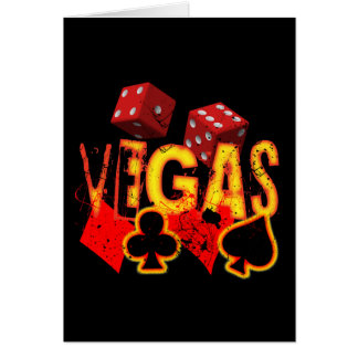 VEGAS - GRUNGE AND PAINT SPLATTER CARD