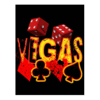 VEGAS - GRUNGE AND PAINT SPLATTER POSTCARD