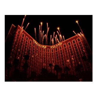 Vegas - isla del tesoro tarjetas postales