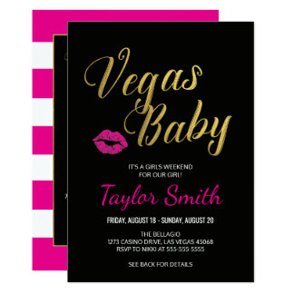 Vegas Itinerary Invitation