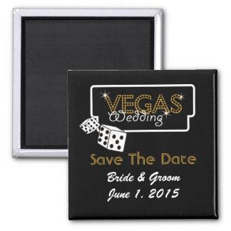 Vegas Lights Black Save The Date Magnet