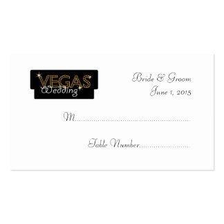 Vegas Lights Black Wedding Place Cards Business Card Template