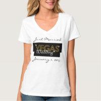 Vegas Lights Just Married T-Shirt