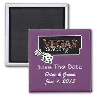 Vegas Lights Purple Save The Date Magnet