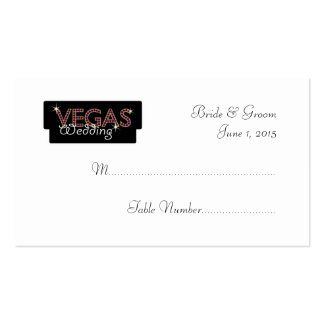 Vegas Lights Purple Wedding Place Cards Business Card