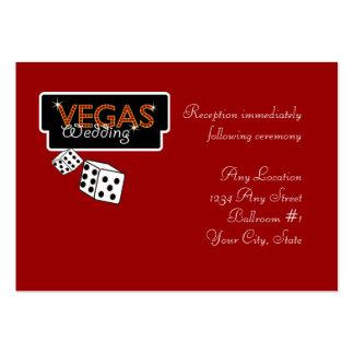 Vegas Lights Red Wedding Reception Cards