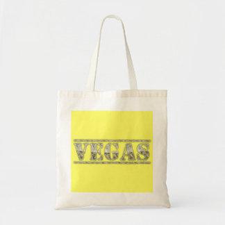 Vegas Money Text Budget Tote