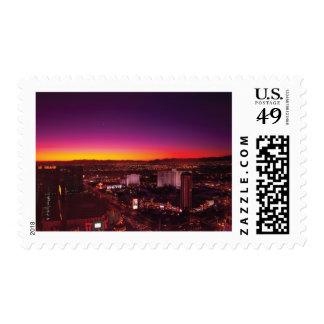 Vegas - NY - Sunrise over the city Postage Stamps