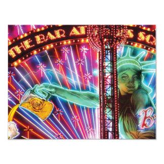 Vegas - NY - The Bar at Times Square 4.25x5.5 Paper Invitation Card