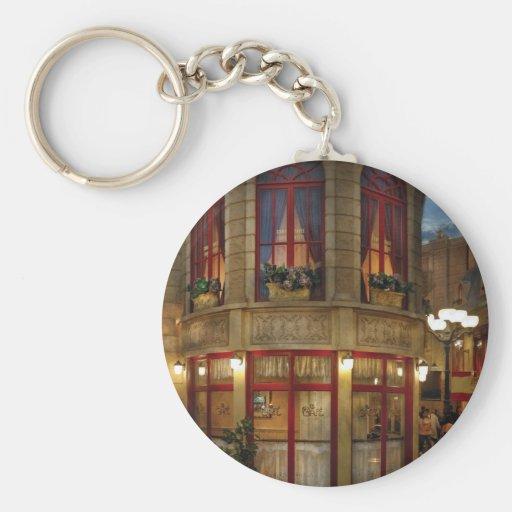 Vegas - Paris - Le Cafe Basic Round Button Keychain