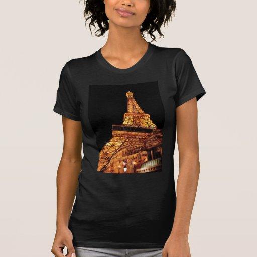 Vegas - París - restaurante de la torre Eiffel Camisetas