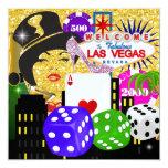"Vegas Party - Casino / Poker - SRF 5.25"" Square Invitation Card"