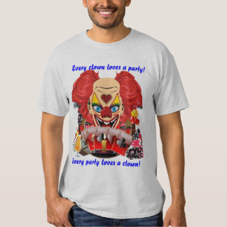 Vegas Party Clown Any Event View Notes T Shirt