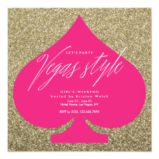 Vegas party invitations