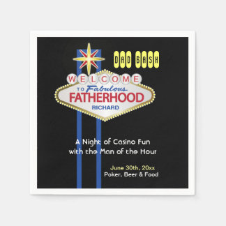 Vegas Party New Daddy Baby Shower Party Napkins Standard Cocktail Napkin