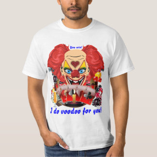 Vegas Party Voodoo Clown Any Event View Notes Tee Shirt