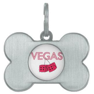 Vegas Placa De Mascota