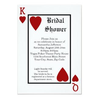 Vegas Playing Card King/Queen Bridal Shower
