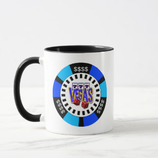 VEGAS POKER CHIP MUG
