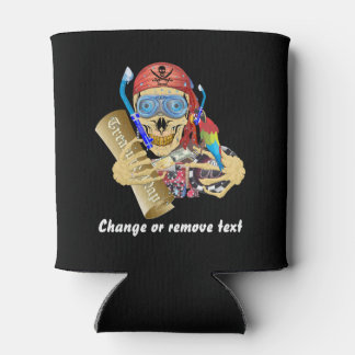 Vegas Pool Pirate 2 Different designs text Can Cooler