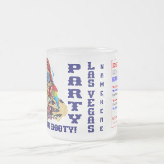 Vegas Pool Pirate Add your photo and Text Frosted Glass Coffee Mug