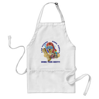Vegas Pool Pirate Bring your Booty Adult Apron
