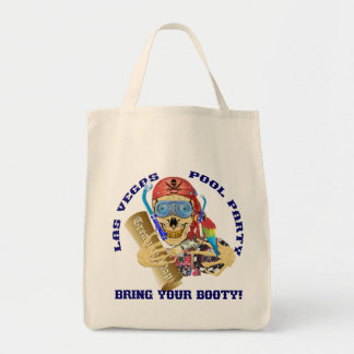 Vegas Pool Pirate Bring your Booty Tote Bag