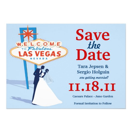 Vegas Save the Date! Custom Invites