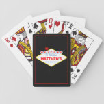 Vegas Sign Casino Night Personalized Playing Cards