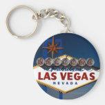 Vegas Sign Dusk Keychain
