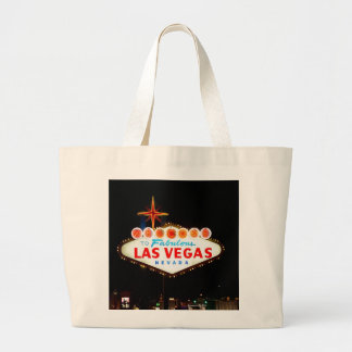 Vegas Sign Lit Up Canvas Bags
