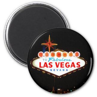 Vegas Sign Lit Up Refrigerator Magnet