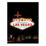 Vegas Sign Lit Up Post Cards