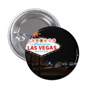 Vegas Sign Night Pinback Button