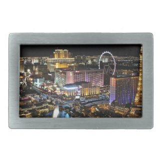 Vegas Skyline Rectangular Belt Buckle