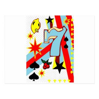 Vegas Slot Machines Postcard