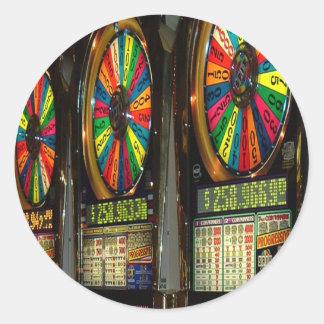 Vegas Slots Classic Round Sticker