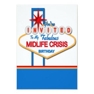 Vegas Style Midlife Crisis Birthday Card