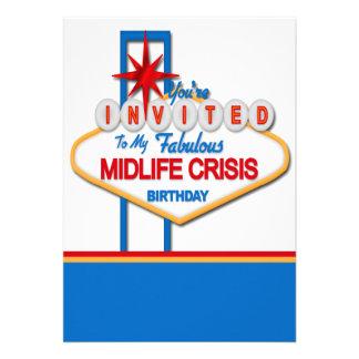 Vegas Style Midlife Crisis Birthday Personalized Invites