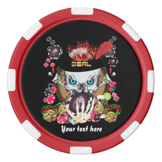 Vegas Style Set 1 From Digital Art Expressions Set Of Poker Chips at Zazzle