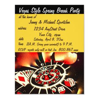 Vegas Style Spring Break  Party 4.25x5.5 Paper Invitation Card