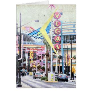 Vegas Tarjeta De Felicitación
