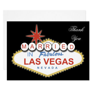 Vegas theme Thank You Card