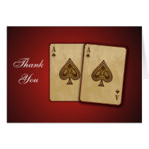 Vegas theme Thank You Card