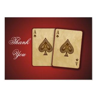 Vegas theme Thank You Card Custom Invitations