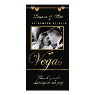 Vegas theme thank you photo card