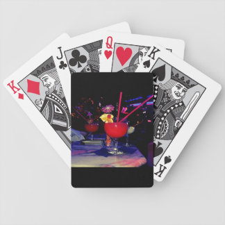 Vegas Tropical Cocktail Funky Bicycle Playing Cards
