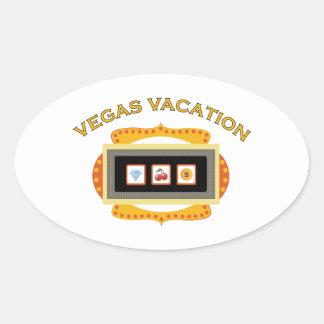Vegas Vacation Oval Sticker