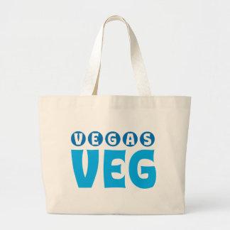 Vegas Veg logo items Large Tote Bag