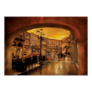 Vegas - veneciano - las calles de Venecia Póster